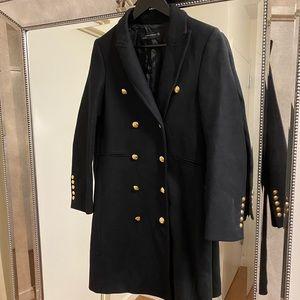 Zara Military Inspired Wool Coat